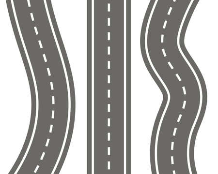Vector illustration of different perspective roads Ilustracja