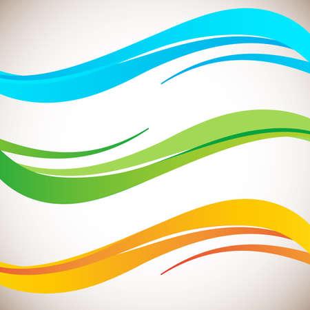 Abstract color wave design element. Smooth dynamic soft style on light background. Vector illustration Ilustração