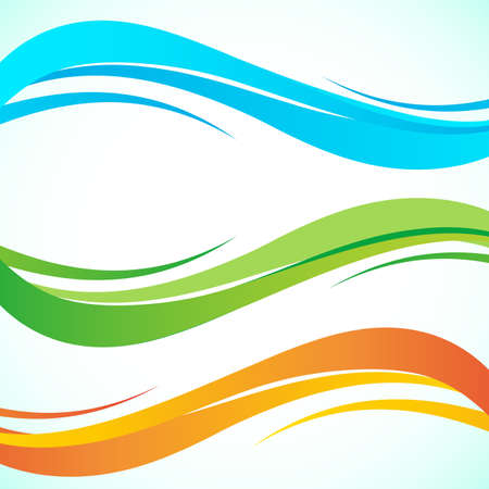 Abstract color wave design element. Smooth dynamic soft style on light background. Vector illustration 向量圖像