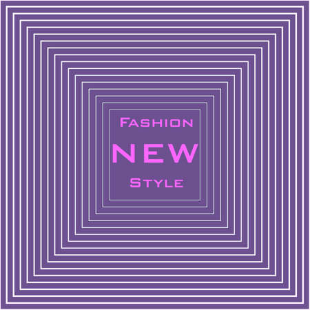Banner template with place for text, Purple fuchsia abstract light background, square halftone. Magenta minimal design. Vector texture for fashion market Imagens - 125462089