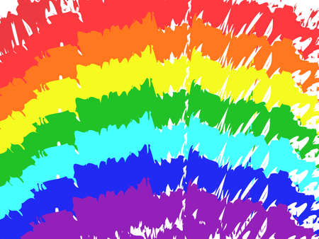 Art rainbow color brush stroke paint draw background. Vector illustration Ilustração