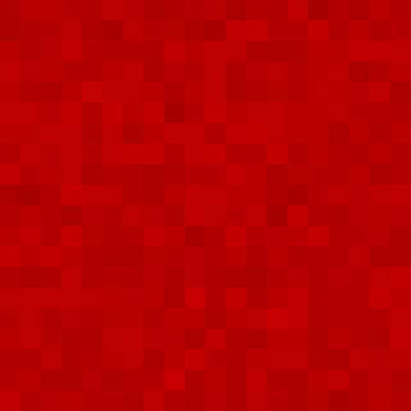 Red Square Mosaic Background. Seamless 3D Pixel Mosaic. Vintage Colorful Texture. Vector illustration. Ilustração