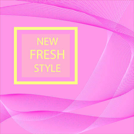 Abstract Modern Line, Wave Designed On Pink Background With Sample Text. Vector illustration for your web design or website. dynamic elegant style on a pink background.