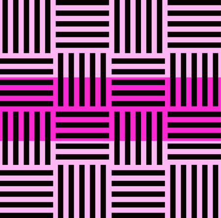 Striped seamless pattern with horizontal line. Black and white fashion graphics design. Strict graphic background. Retro style. Template for wallpaper, wrapping, textile, fabric. Vector Illustration.
