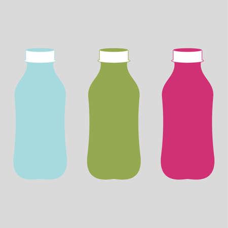 An illustration of three bottles. Plastic bottle for new design. Vector illustration Illustration