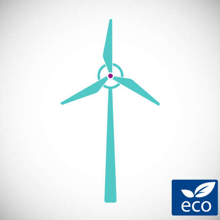 alternative energy power, wind electricity turbine windmill icon,technology of renewable windmill station vector illustratin