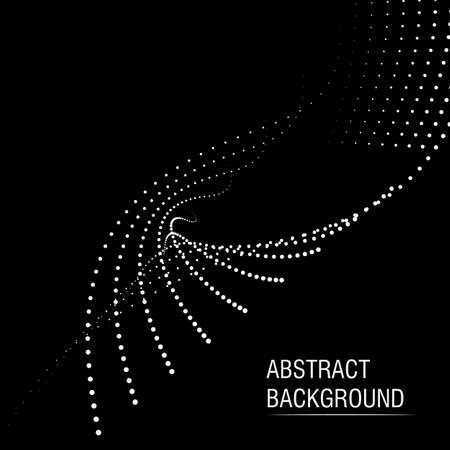 Vector halftone dots abstract business background Ilustração