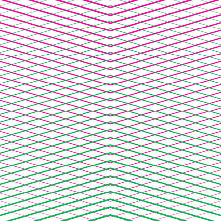 Line halftone with gradient effect. Gorizontal and diagonal intersecting lines pink and menthol color. Template for backgrounds and stylized textures. Design element. Vector illustration.