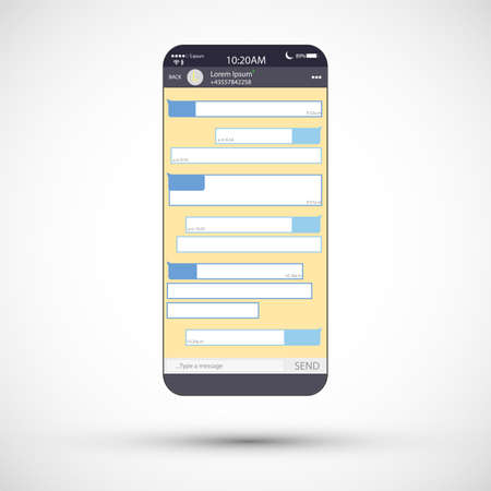 Social network concept. Blank template. Messenger window. Chating and messaging concept. Vector illustration
