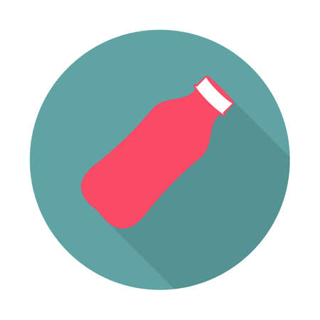 Flat Style Icon with Long Shadow. A bottle of water. Sports icon in flat style. Vector illustration