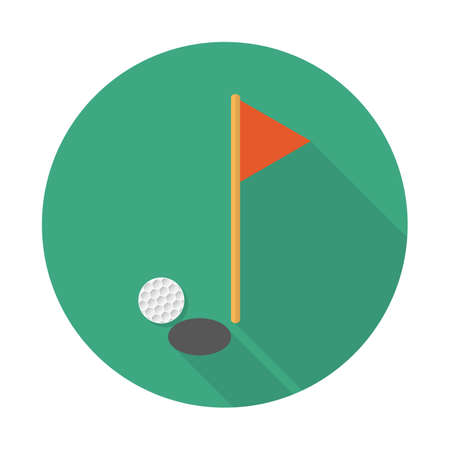 Golf vector illustration flat design with long shadow. Vector illustration
