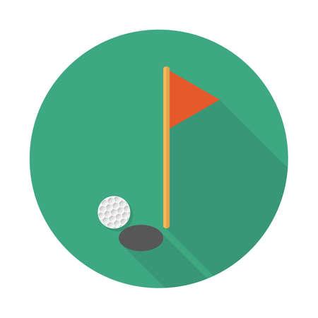 Golf vector illustration flat design with long shadow. Vector illustration