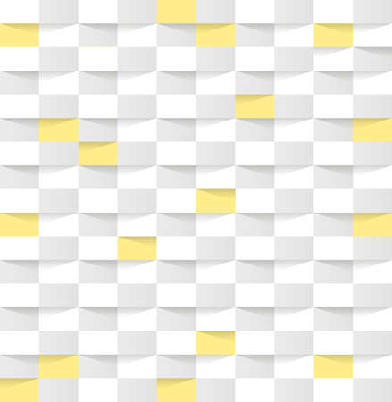 Monochrome Abstract Hexagon Texture with yellow square . Hexagon pattern background. Vector illustration