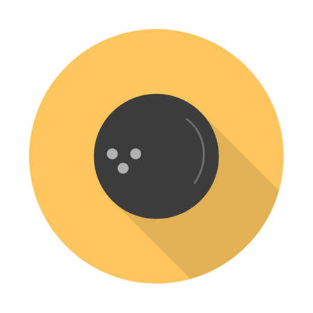 Vector simple flat black bowling ball icon. Imagens - 125462204