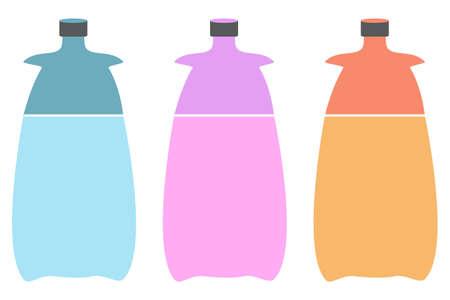 An illustration of three bottles. Plastic bottle for new design. Vector illustration Ilustracja