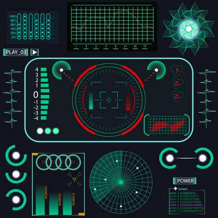 Futuristische Benutzeroberfläche. Element-Benutzeroberfläche. Blaue Elemente. Vektor-Illustration Vektorgrafik