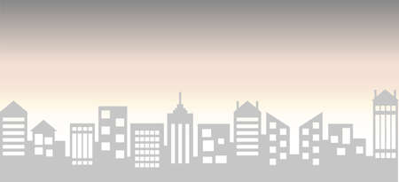 City skyline vector illustration. Urban landscape. Vector illustration. City against the evening sunset