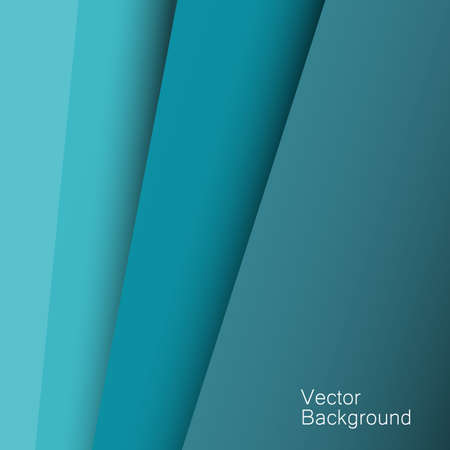 Abstract background with blue paper layers. Banner on blue paper layers background