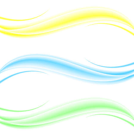 Abstract elegant colorful light waves set in dynamic soft smoky style on transparent background.