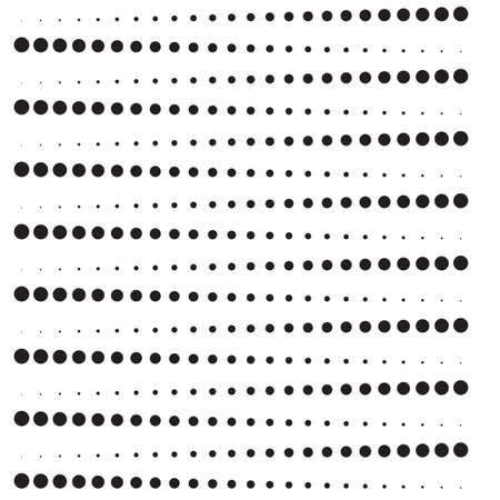 Horizontally lines of black dots. Vector illustration 스톡 콘텐츠 - 125462322