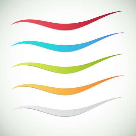 Abstract color wave design element. Smooth dynamic soft style. Vector illustration