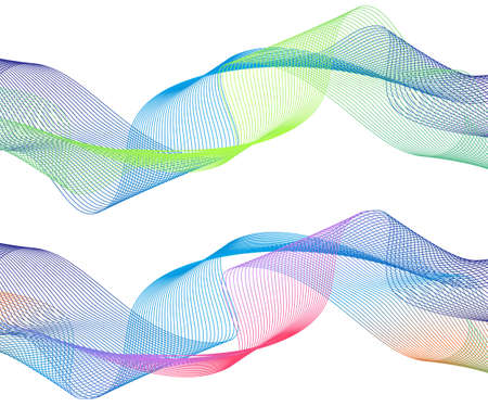 Abstract smooth color wave vector. Curve flow blue motion illustration. Smoke design. Vector lines.