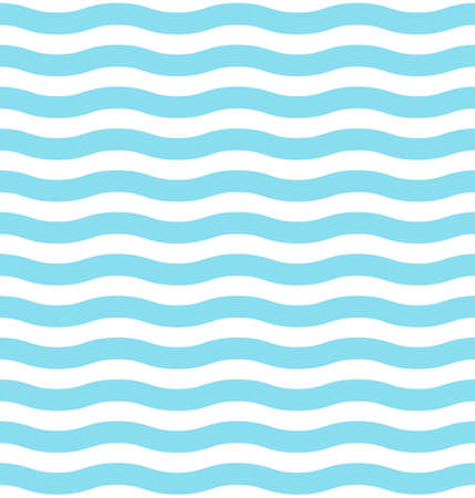 Blue wave seamless pattern. Vector background. Minimal design Ilustração