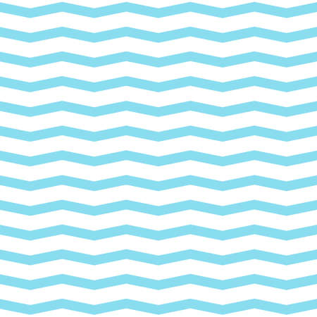 Blue wave seamless pattern. Vector background. Minimal design Stock Illustratie