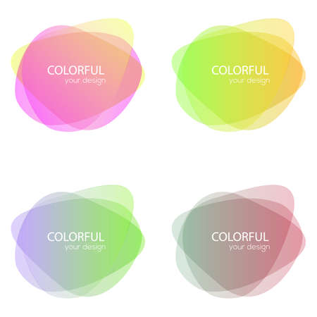 Set of round colorful vector shapes. Abstract vector banners. Design elements. Ilustração