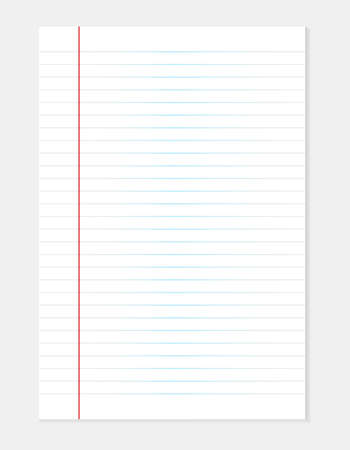 White line paper sheet background. Blank sheets of lined paper