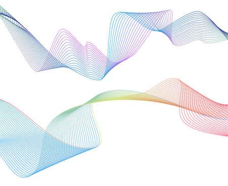 Abstracte vlotte kleurengolfvector. Curve stroom blauwe beweging illustratie. Rookontwerp. Vector lijnen. Vector Illustratie