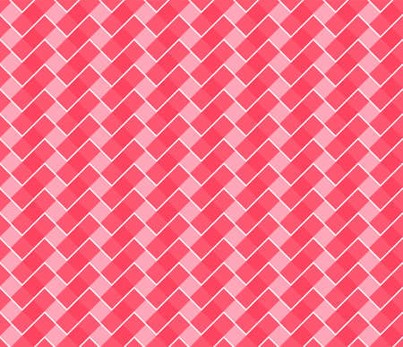 Red and pink tone abstract geomatric seamless background texture. Textured red and white plaid vector background