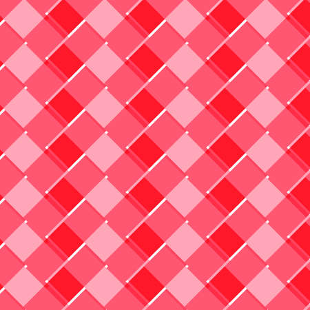 Red and ponk tone abstract geomatric background texture. Textured red and white plaid vector background