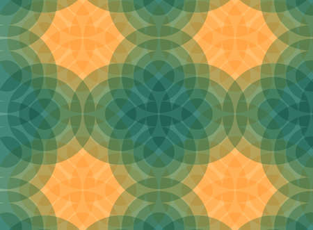 Retro seamless pattern with circles. Colorful vector background for hipster. Background of yellow and orange circles. Vector illustration