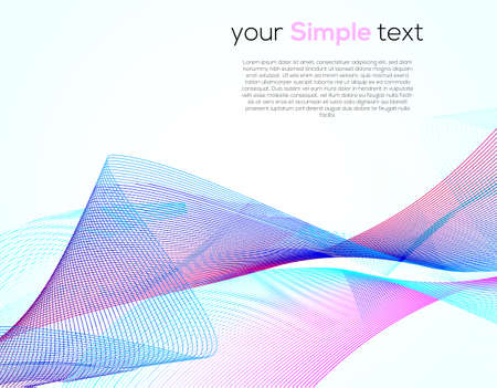 Universal Cover Design with Gradient Colored Wave Line on White Background. Simple Template with Horizontal Smooth Curved Line for Business Presentation, Publications. Ilustracja