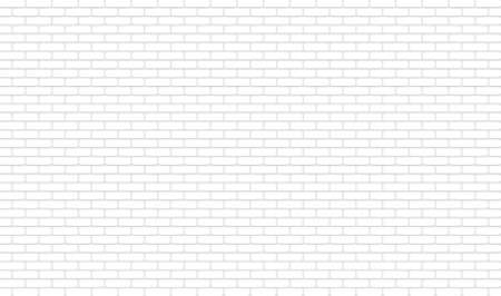 White texture, seamless brick wall. Vector illustration. Panoramic Solid Surface