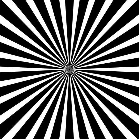 Sun rays, sunburst, light rays, sunbeam background abstract black and white colors Banco de Imagens - 125462436