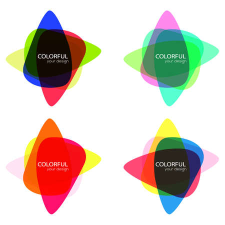 Set of round colorful vector shapes. Abstract vector banners. Design elements. Illustration
