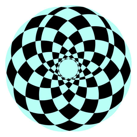 Abstract geometric circle shape. Vector illustration