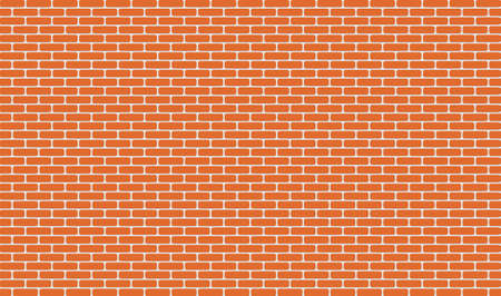horizontal orange brick wall for background and design. Vector illustration