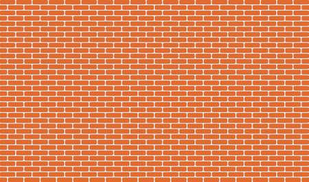horizontal orange brick wall for background and design. Vector illustration