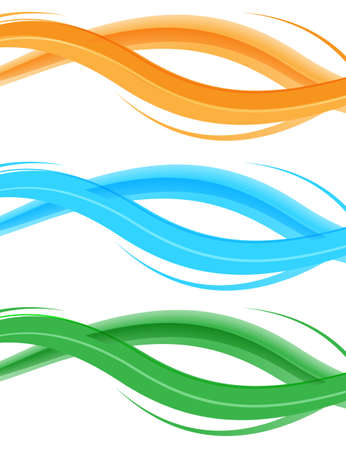 Abstract color wave design element. Smooth dynamic soft style on light background. Vector illustration Ilustração