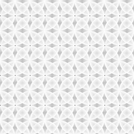 Seamless geometric pattern of circles on a white background