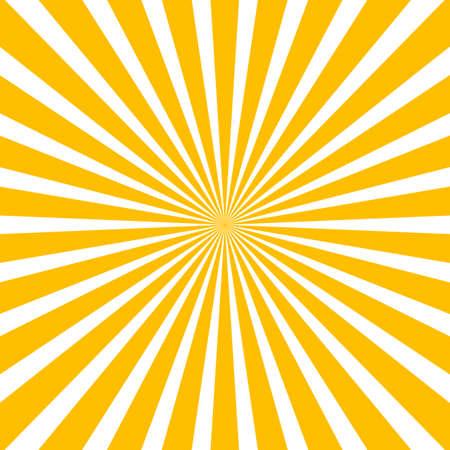 Sun rays, sunburst, light rays, sunbeam background abstract yellow and white colors