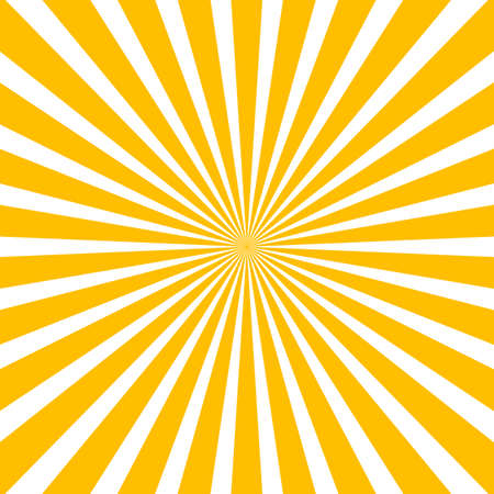 Sun rays, sunburst, light rays, sunbeam background abstract yellow and white colors