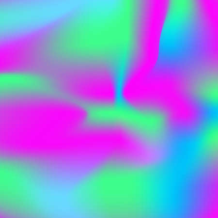 Abstract blurred gradient mesh background. Luminescent pink, blue and green trend background colors. Vector neon color mesh background. Colorful smooth banner template.