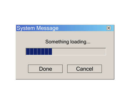 Loading Data Window Progress Bar. Classic Operating System User Interface Element. Vector Illustration. 일러스트