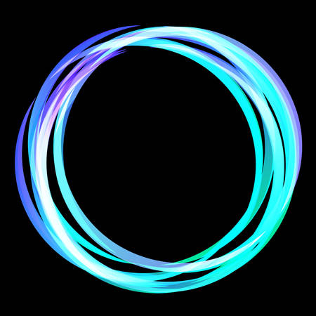Color neon light circle. Shining round techno frames collection. Color neon abstract background with glow. Vector illustration
