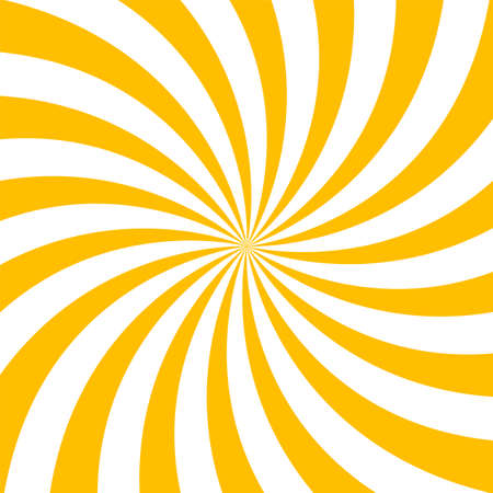 Yellow and white sunburst pattern. Vector illustration