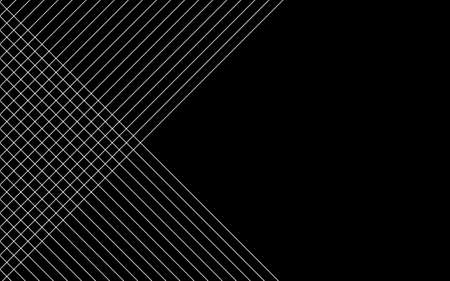 Abstract black background with diagonal lines. Vector illustration Stock Illustratie